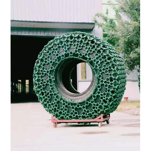 Tire/tyre protection chain for used cat 966 loader