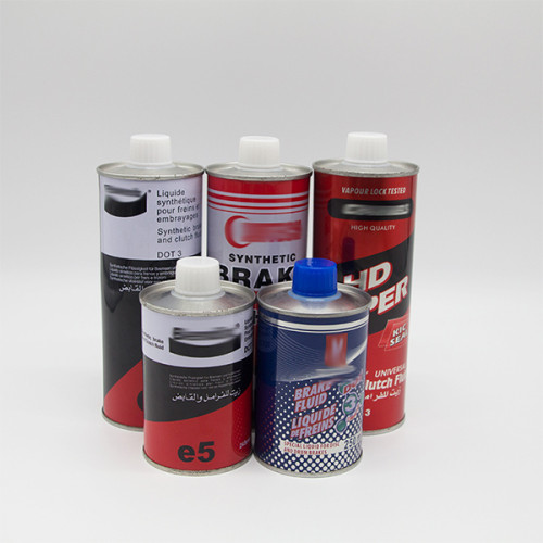 dot3 dot4 3000 4000 brake fluid tin can oil with cover Factory direct sale