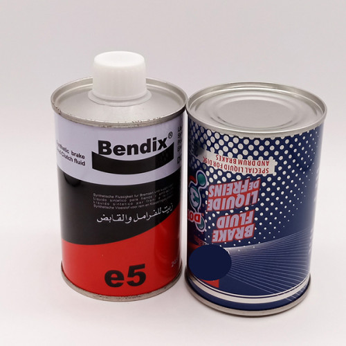 1L 85*190 Empty tinplate metal round brake fluid tin can