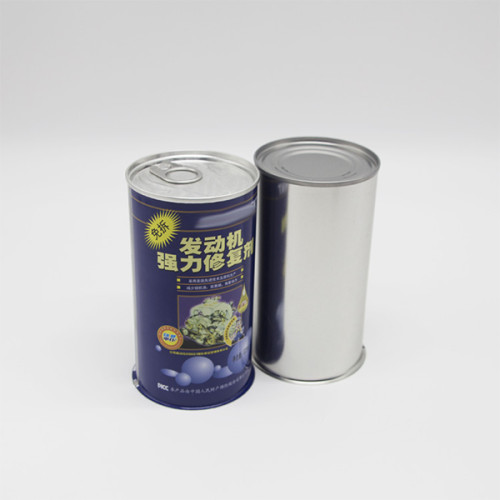 Hotsale round empty metal tin for engine oil/motor oil