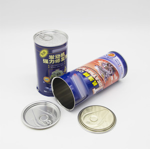 hot sale screw top empty brake oil round tin cans
