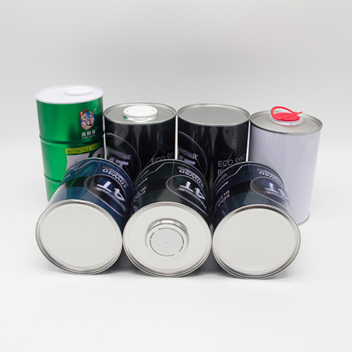 1 litre engine oil can,round tinplate can for paint