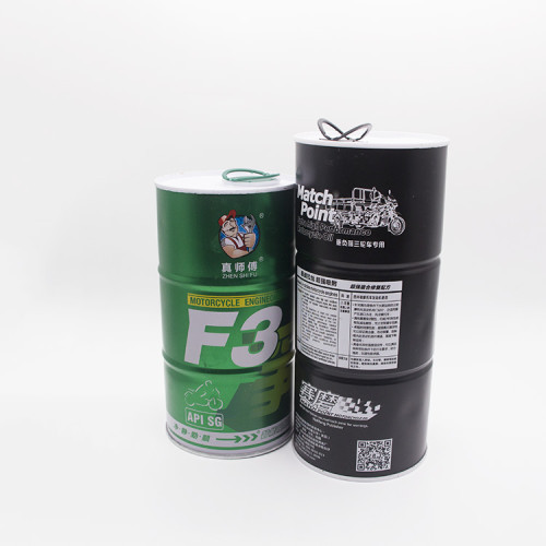 Factory accept custom size 800ml 1l round oil can for motorcycle oil