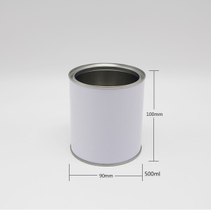 airtight tin container metal empty round tin/tinplate can/pail 8 oz tin can