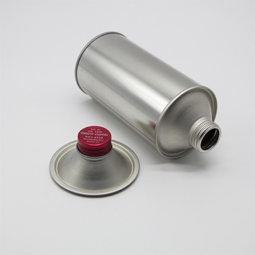 250 ml to 1L metal can with plastic screw lid