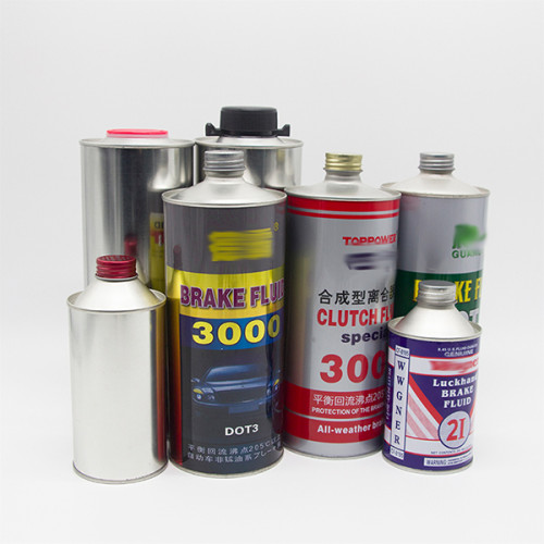 Factory direct supplier paint round bucket with lids engine oil tinplate round can 1 liter