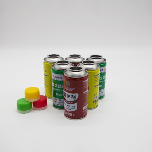 guangzhou tinplate wholesale empty aerosol cans with plastic caps