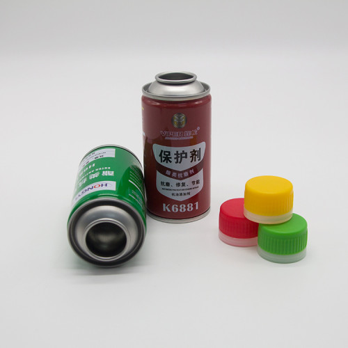 plastic cap for aerosol can silver shape aerosol tinplate can