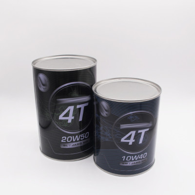 China supplier 800ml 1L metal tin can for motor oil petrol use tin can