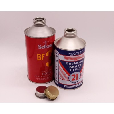 Dia 65mm Hot Sale Printing Round Can for brake oil