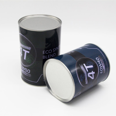 800ml 1L engine oil packaging brake fluid tin container with 42mm plastic spout cap