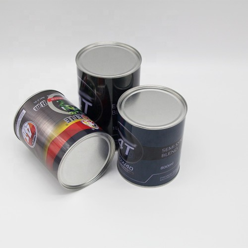 Chinese manufacturer wholesale round engine oil can 800ml 1l