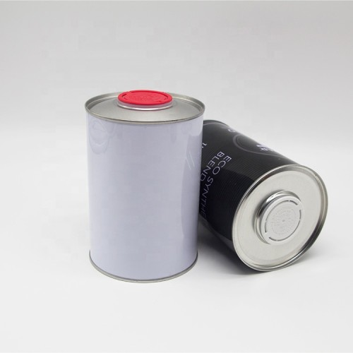 Round screw top pvc glue can with metal cap or handle iron bucket and plastic oil can 42mm for solvent