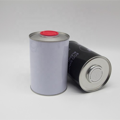 1000ml engine lubricant oil tin can,empty motor oil can with plastic cap