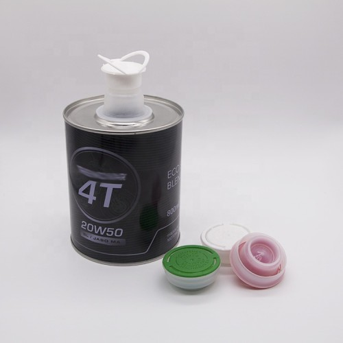 100ml to1000ml auto paint metal tin can with plastic lids for oil