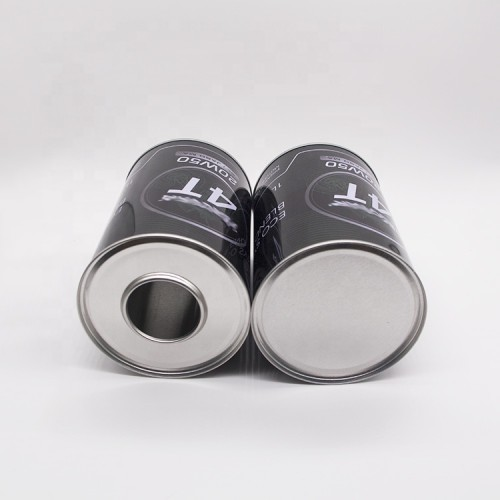 1 liter with plastic spout cap empty engine oil tin cans