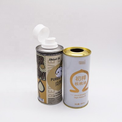 food tinplate packaging 100ml olive oil tin can