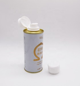250ml Round oil tin can for olive oil packaging