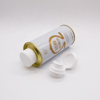 China manufacturer supply small metal printing oil can with plastic cap