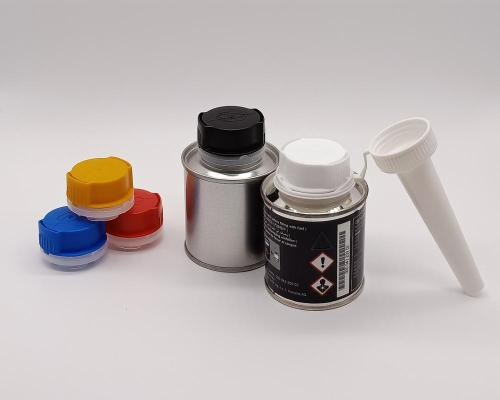 100ml engine oil tin can with plastic cap