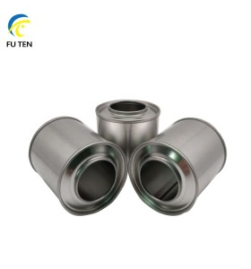 Wholesale metal tinplate can with plastic spout for additives