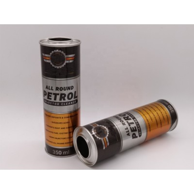 Metal material tinplate car care can for power steering treatment