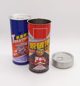 engine flush empty ring-pull tin can with CMYK