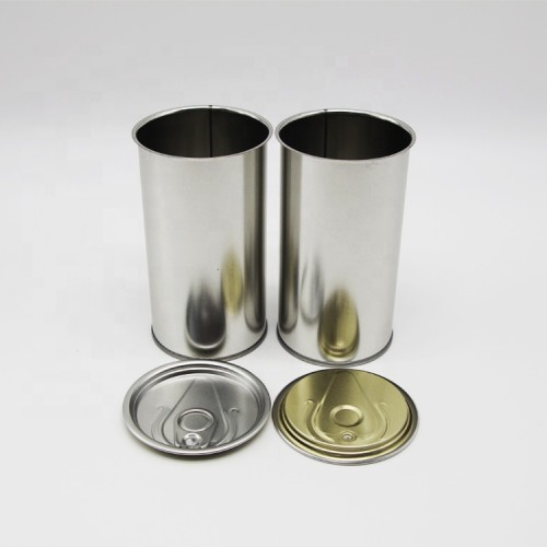 100 ml to 1L round metal tin can with CMYK and Pantone printing