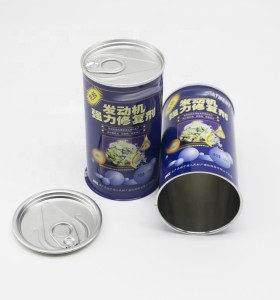 500ml Round engine oil/oil treatment tin can with easy open lids