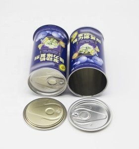 100ml 150ml 200ml 250ml 300ml 350ml 400ml 450ml Round empty oil tin can with ring pull easy open lid