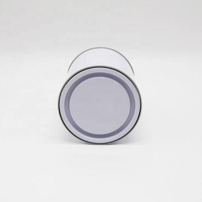airtight tin container metal empty round tin/tinplate can/pail 8 oz tin can