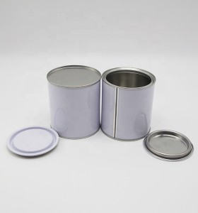 500 ml to 1L Chinese Factory Hot Sale round metal tin can with pry lid cans