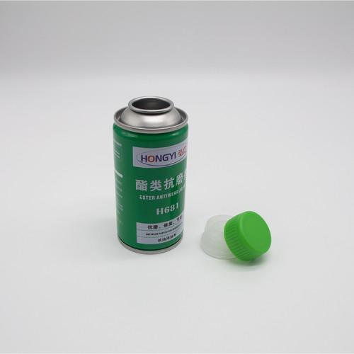 plastic cap for aerosol can silver shape aerosol tinplate can