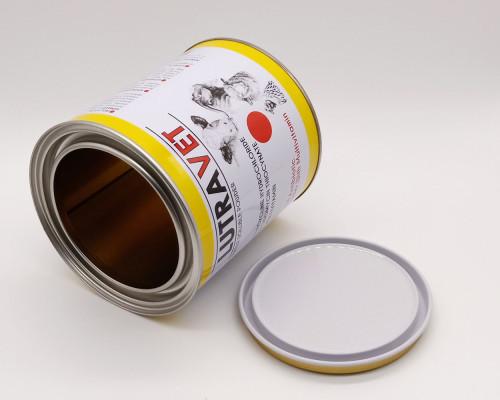 round metal seal tin can,coconut milk tin can