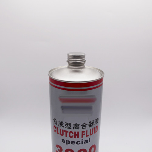 1L Round shape metal oil can for liquid engine oil packaging