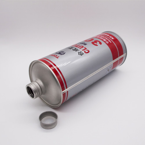 wholesale SGS empty round metal paint tinplate tin cans screw top with lid and handle for motor oil and glue