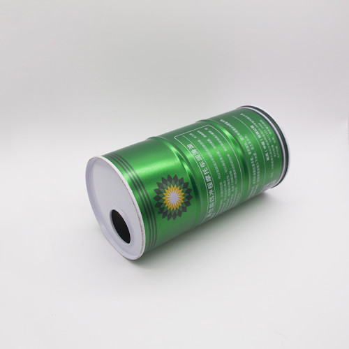 100 ml to 1L round motor oil tin can with flexible spout