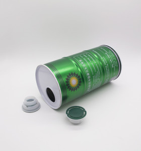 1L round engine oil tin can,motor oil tin can with spout