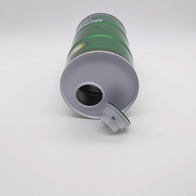 800ml 1l Empty round metal drum for engine oil/metal paint tin can for sale