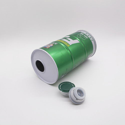 100ml to 1L round metal tin can container for oil with lid