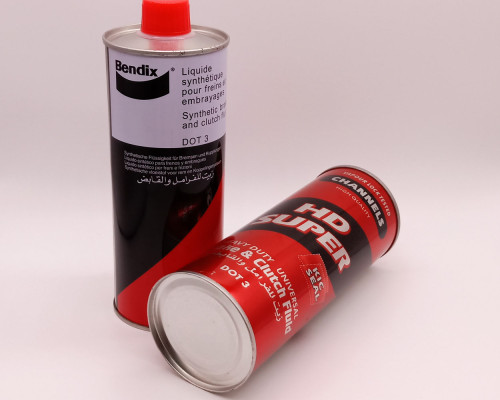 Empty250ml 500ml 1000ml metal tin chemical paint can engine tin oil can with lid for Brake fluid packing