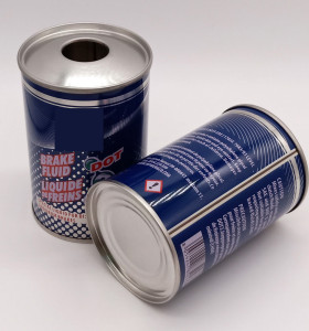 China supplier cleaning oil engine oil empty tin can tin container small round oil can 250ml