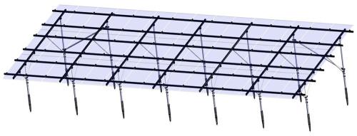 태양 역, 태양 전지판 부류를위한 JFN 중국 지상 나사 두 배 란 구조