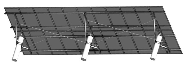JFN China Agricultural light complementary structure for solar station,solar ground mount