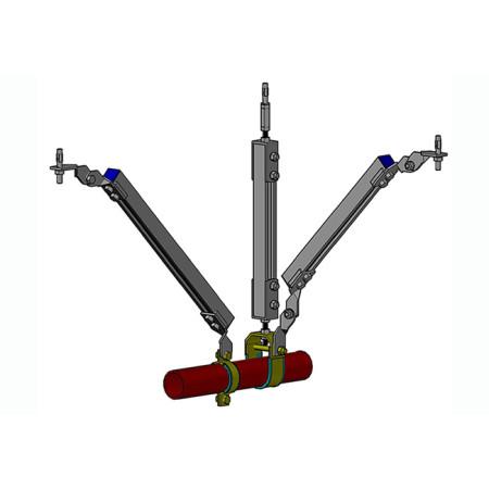 JFN中国鋼材の建築工事における円管の耐震サポート、unistrut p1000