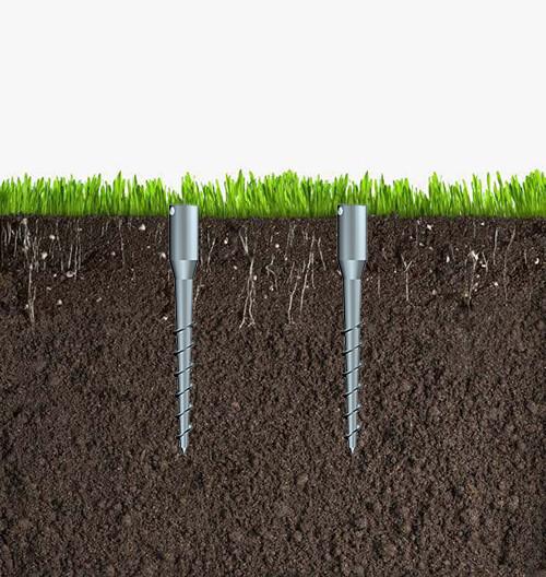 津伏能科技(天津)有限公司-小型螺栓连接螺旋地桩-各种气候地形地基-完美替代水泥地基