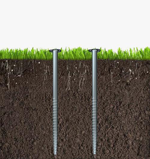 津伏能科技(天津)有限公司-小叶片法兰连接螺旋地桩-各种气候地形地基-完美替代水泥地基