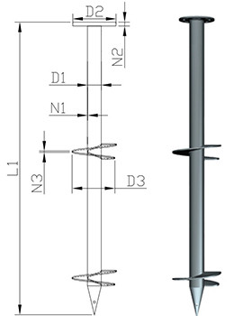 Flange connection screw pile