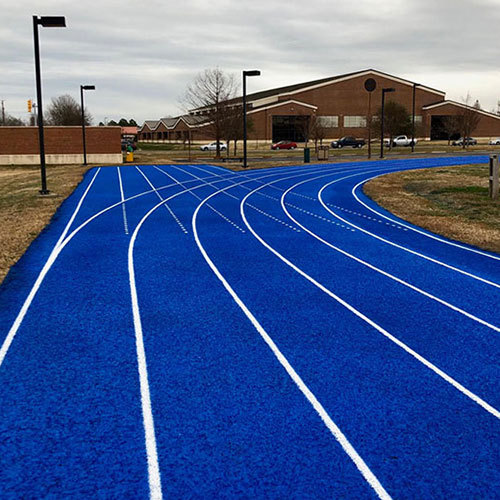 Environmental Protection Prefabricated running track rubber Surfaces blue