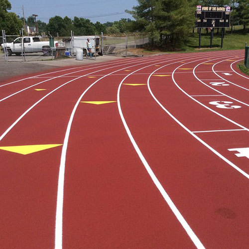 Synthetic running track surface for 400m athletics track sports flooring
